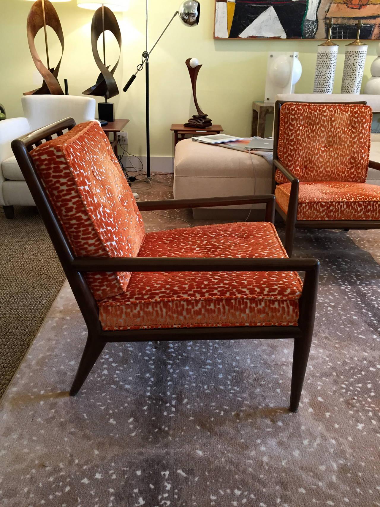 Pair of Classic T H Robsjohn Gibbings for Widdi b Lounge Chairs