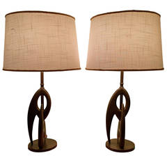 Pair of Biomorphic Sculptural Table Lamps by Rembrandt