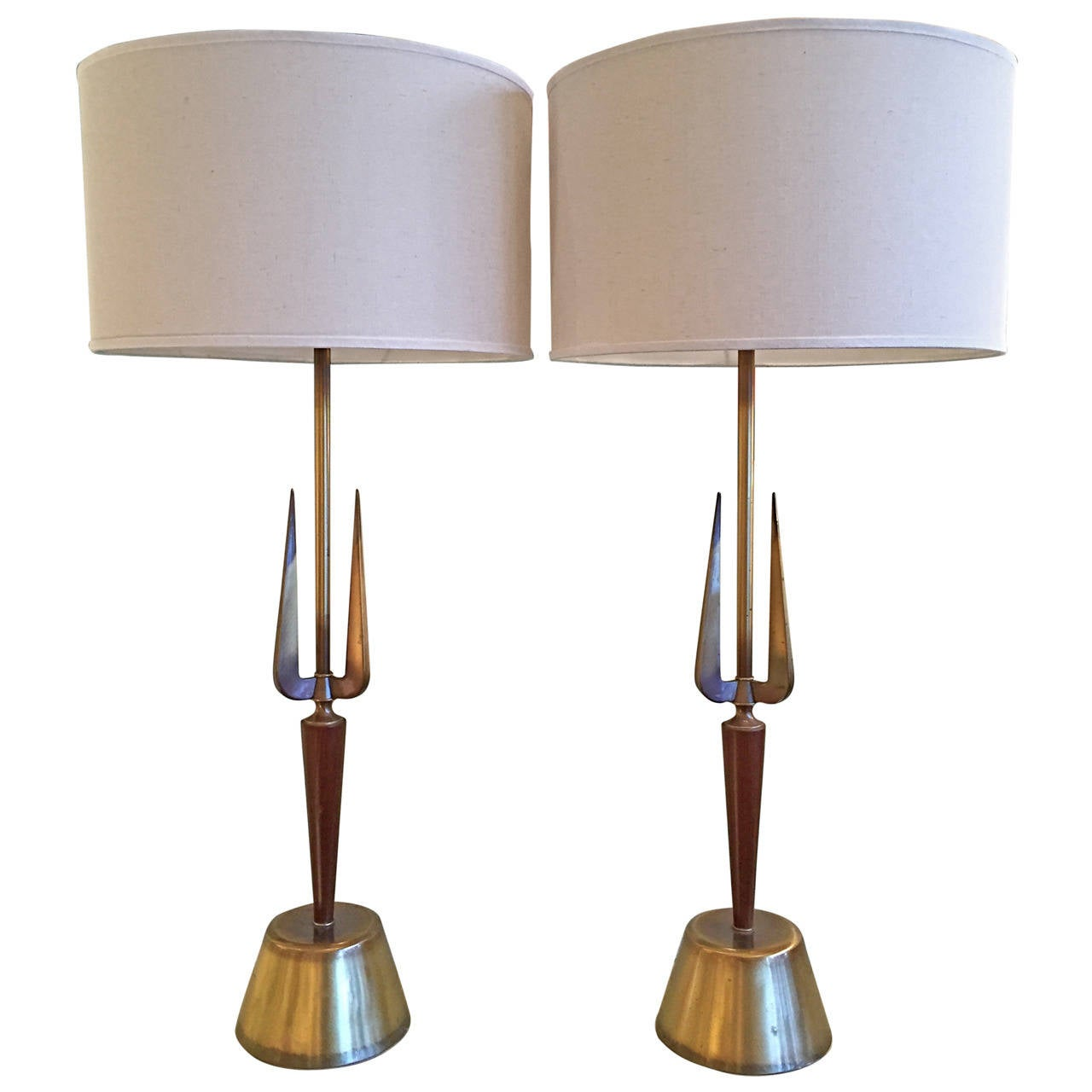 Pair of Atomic Table Lamps by Rembrandt