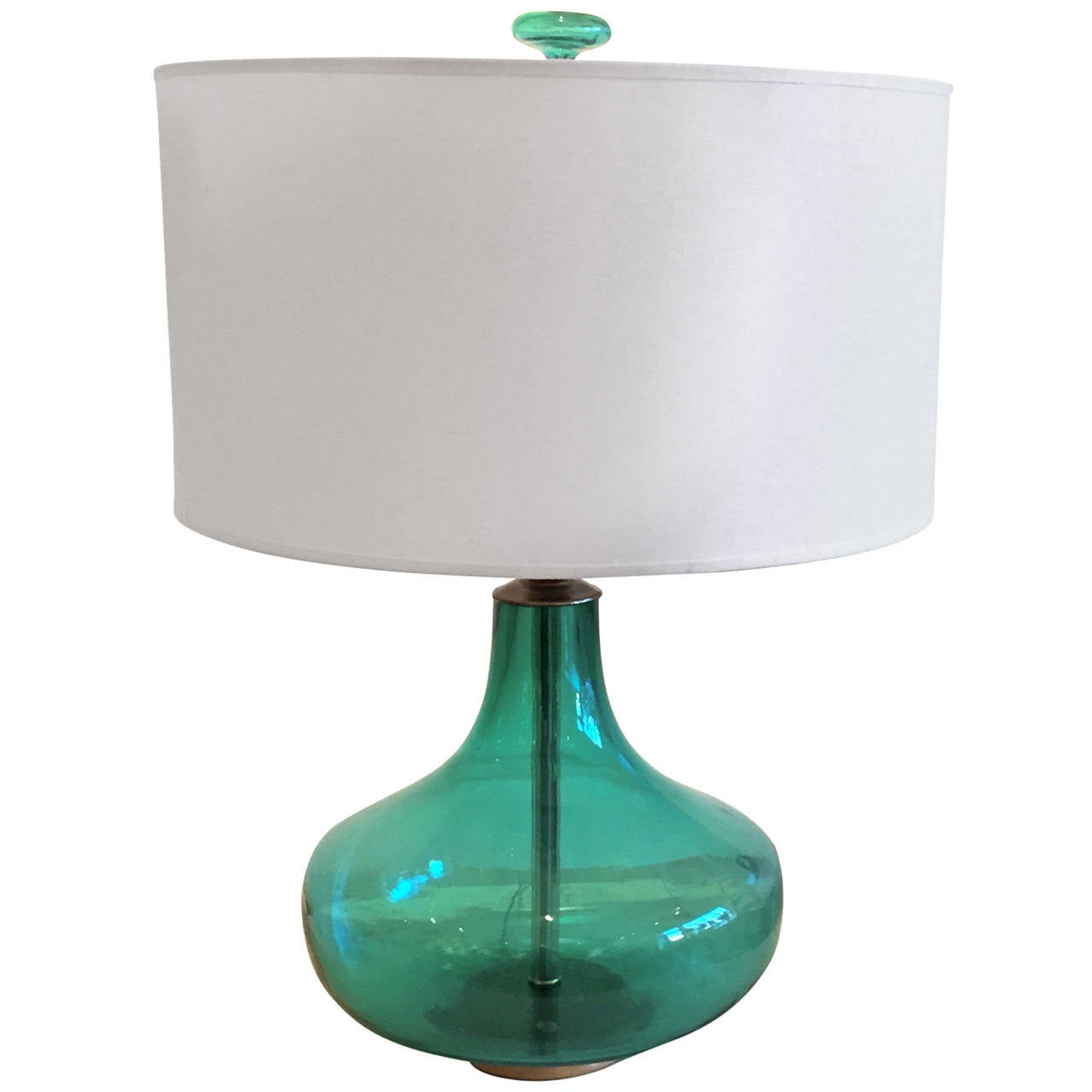 Emerald green table lamp - Blenko Glass Emerald Green Table Lamp 1