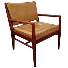 T.H. Robsjohn-Gibbings Style Walnut Armchair
