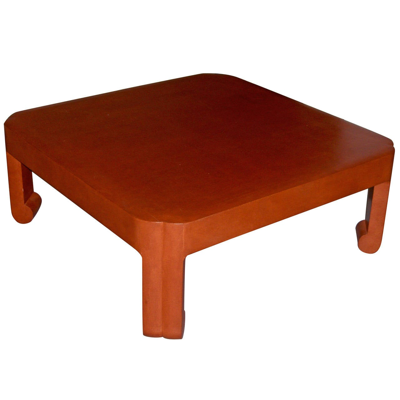 Custom linen wrapped low table by mark hampton for sale at for Markup table