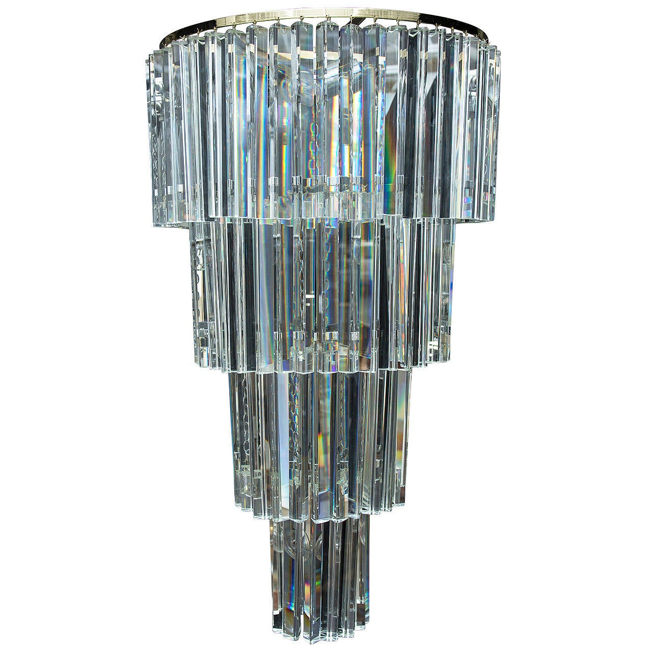 Cut Crystal 4 Tiered Chandelier at 1stdibs