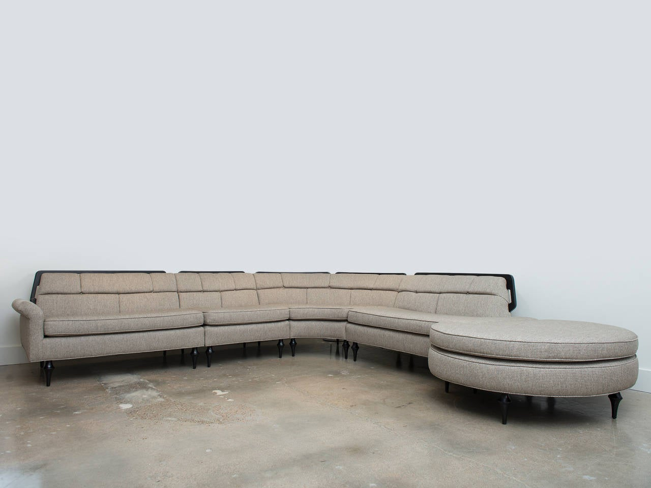 Vintage mid century modern sectional sofa at 1stdibs for Vintage mid century modern sectional sofa
