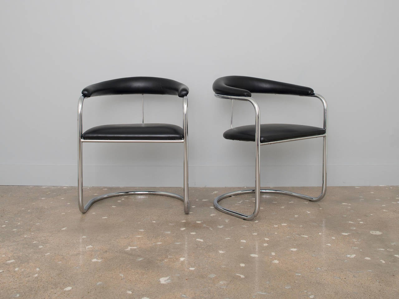 Anton Lorenz Chrome Chairs For Thonet At 1stdibs