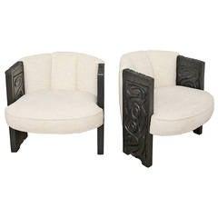 Brutalist Club Chairs