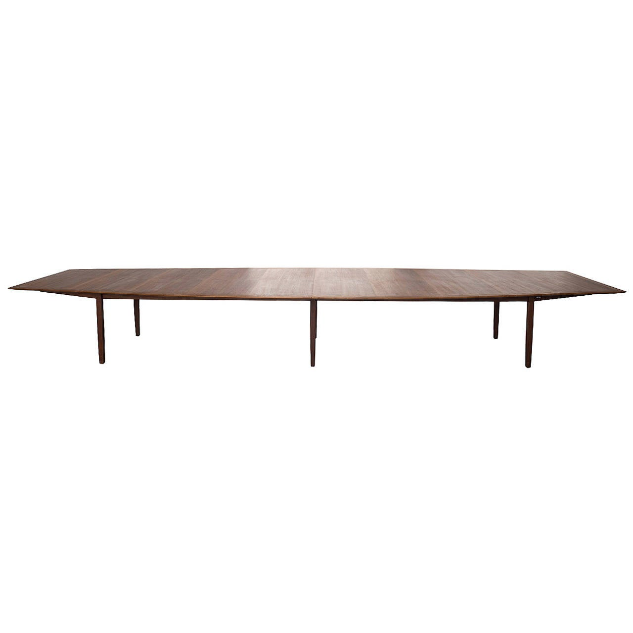 Extra long florence knoll dining conference table at 1stdibs for Long dining table