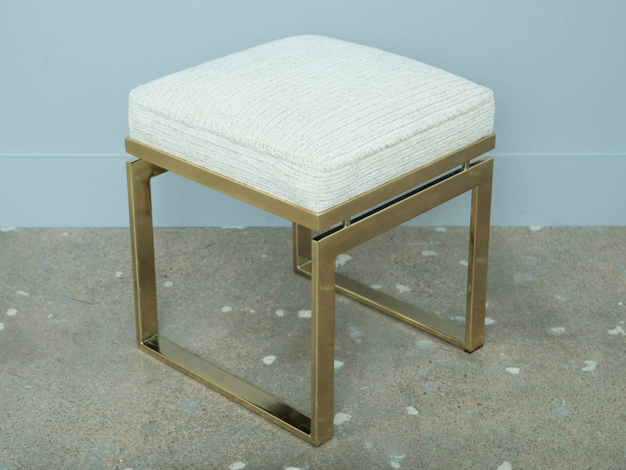Brass Plated Ottoman Or Vanity Stool At 1stdibs