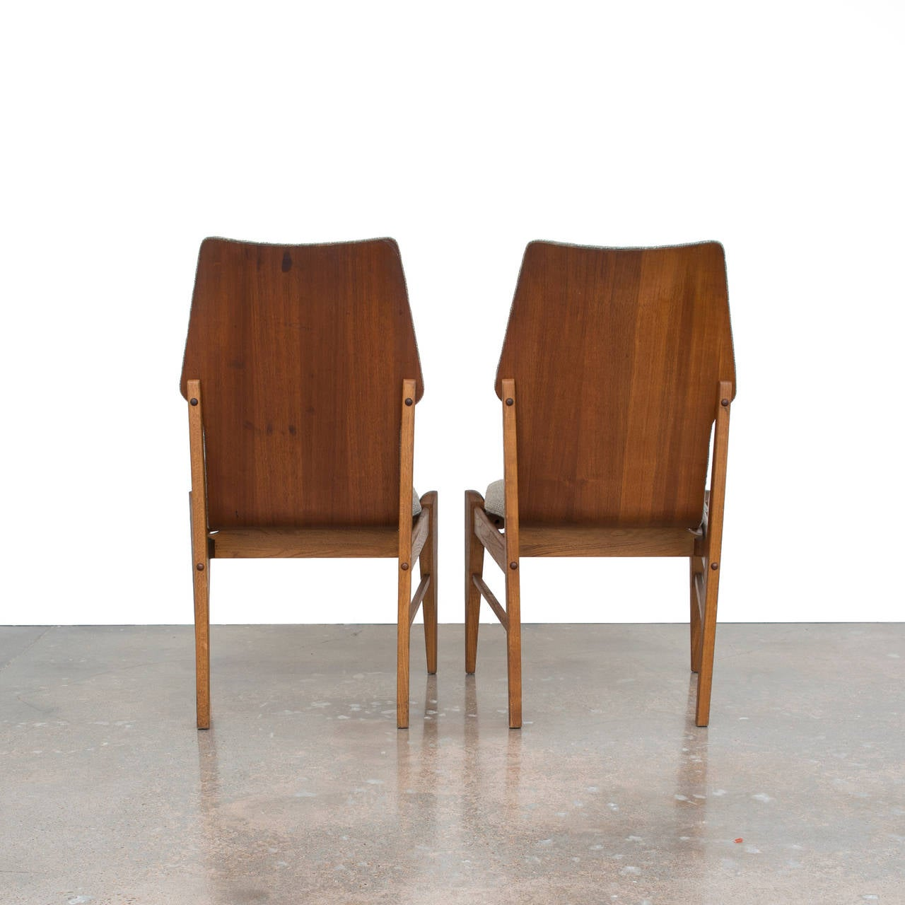 four kodawood danish modern dining chairs at 1stdibs