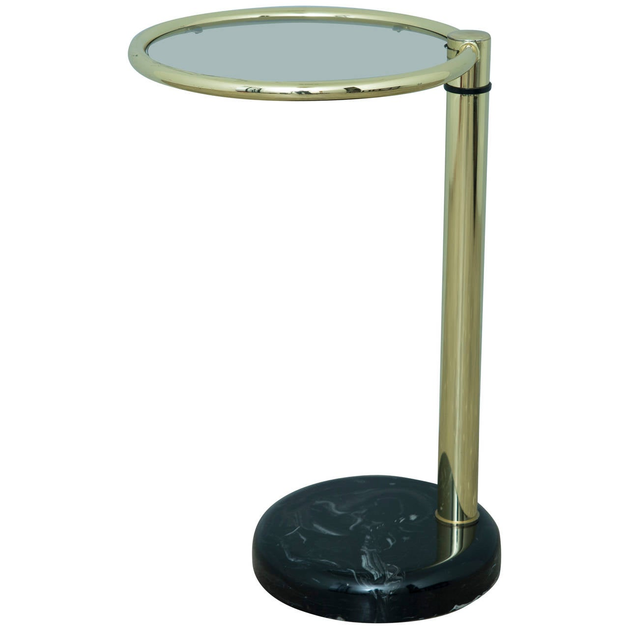 Brass glass and marble pace side table for sale at 1stdibs for Glass end tables