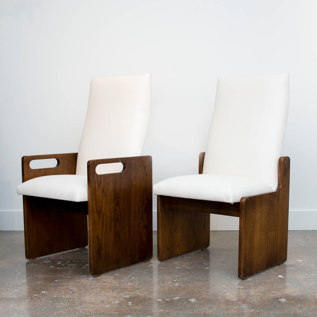 Paul Evans Inspired Brutalist Mosaic Dining Chairs at 1stdibs
