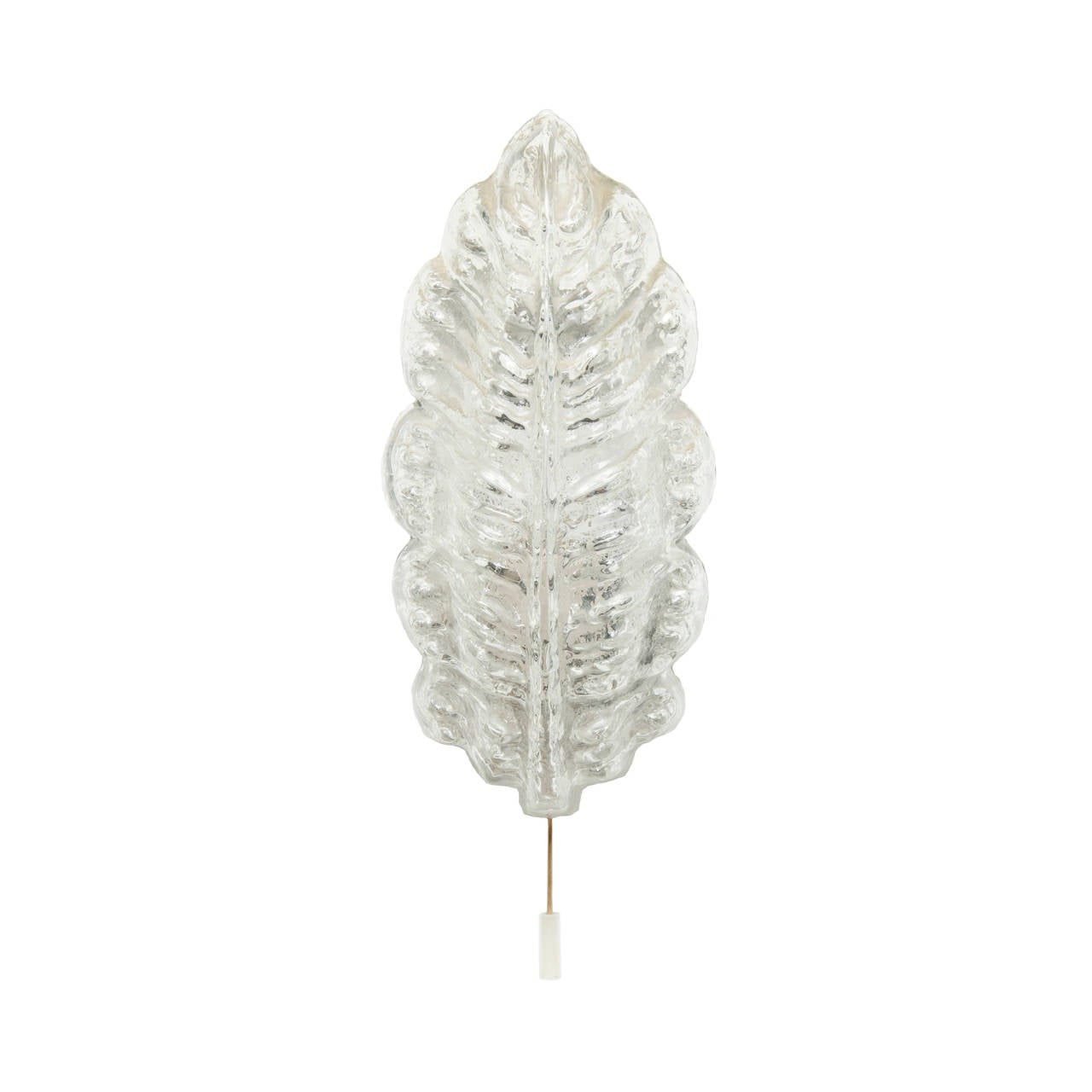Wall Sconces With Leaves : Limburg Leaf Shaped Glass Wall Sconces at 1stdibs