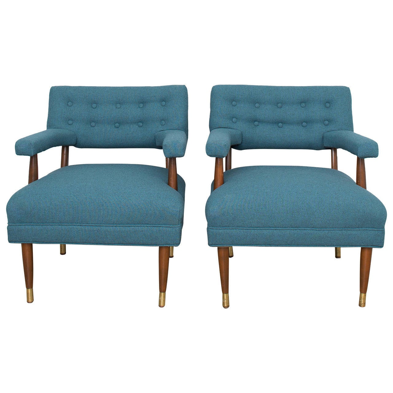Mid Century Modern Tufted Lounge Chairs