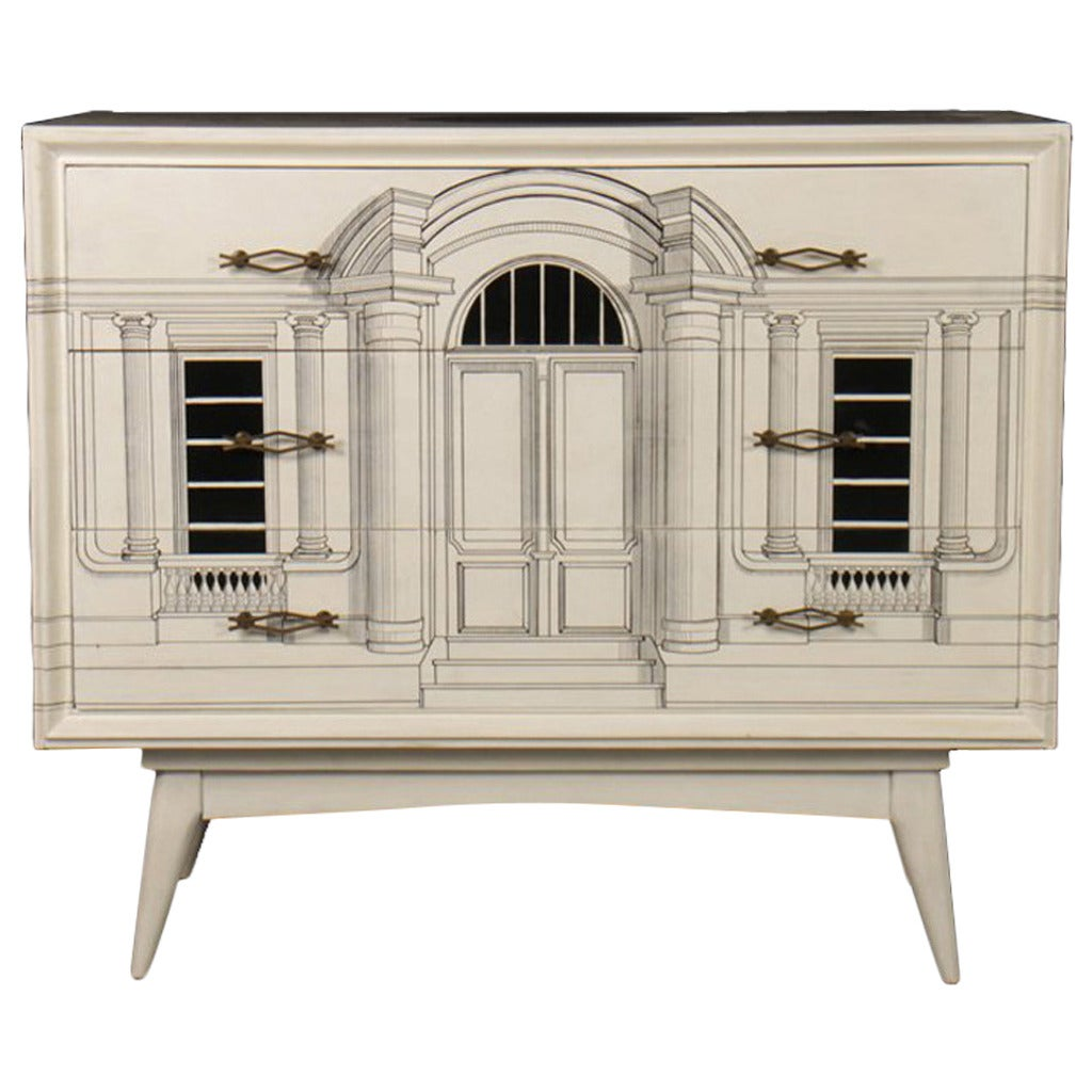 Mid-Century Fornasetti Style Commode 1