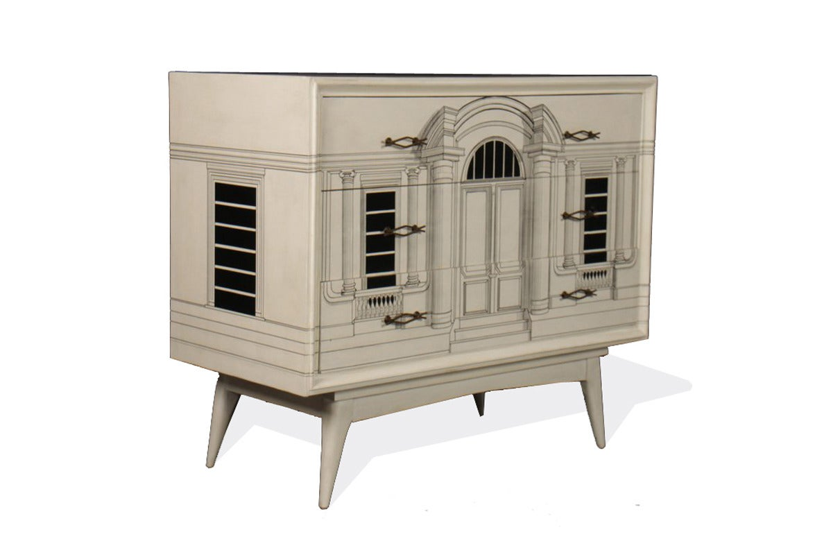 Mid-Century Fornasetti Style Commode 2