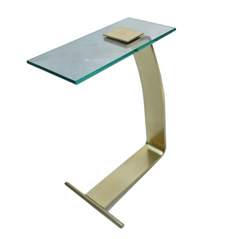 DIA Brass Glass Side Table