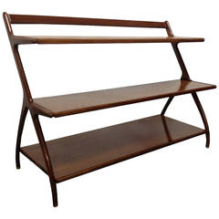 Walnut Open Display Cabinet or Bookcase by Kipp Stewart