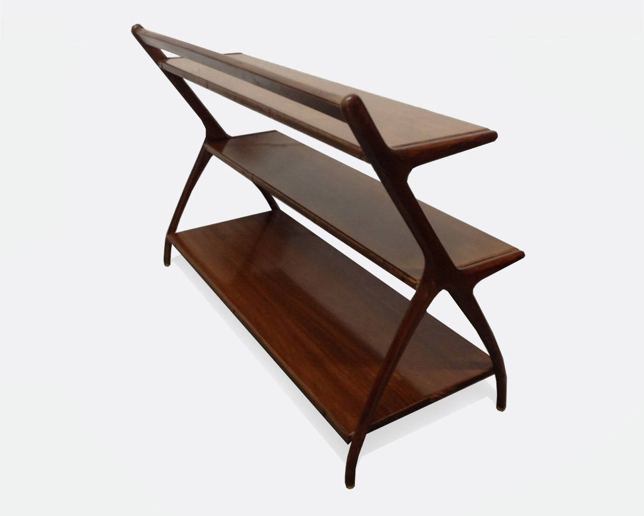 Beautiful open display/ magazine stand and bookcase designed by Kipp Stewart.