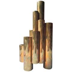 Gio Ponti Brass Candleholders