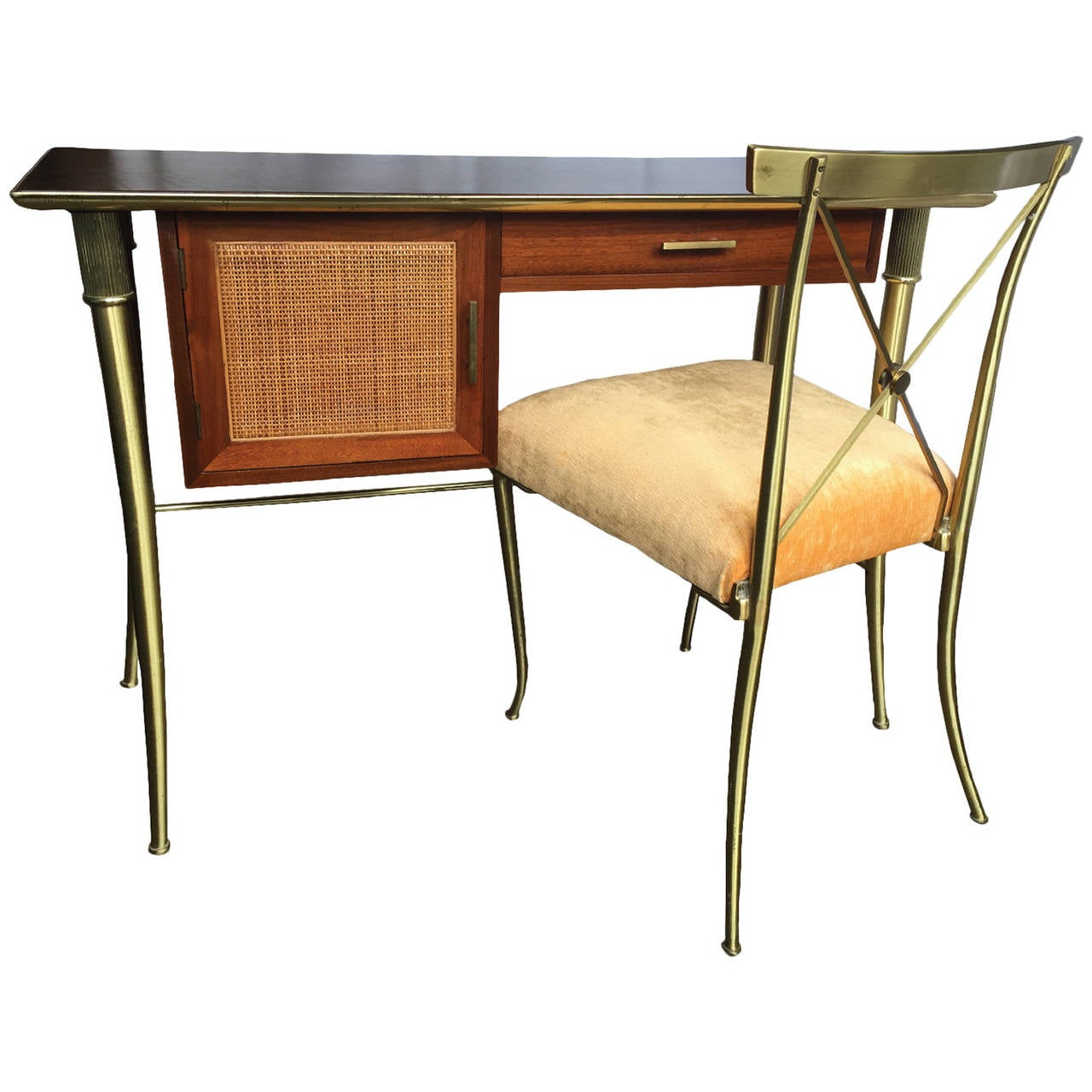 John Stuart Leather Top Desk with Chair