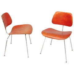 Pair of DCM chairs by Ray & Charles Eames