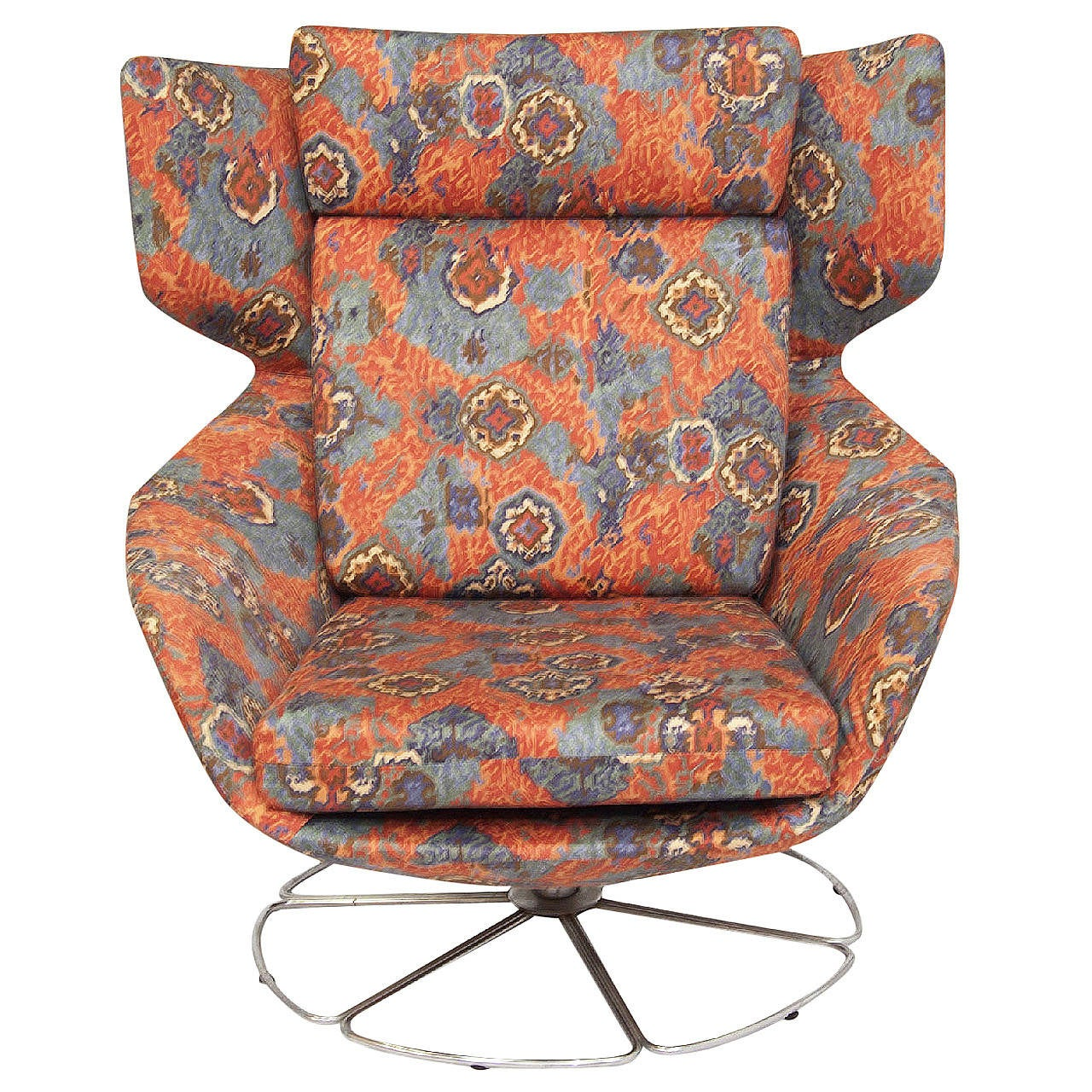 1960s Missoni Wingback Chair At 1stdibs: Scandinavian Wingback Swivel Chair At 1stdibs