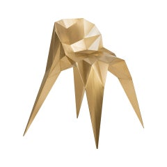 Brass Spider Chair Unique Dining Chair by Zhoujie Zhang