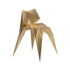 Brass Bow Tie Chair Unique Dining Chair by Zhoujie Zhang