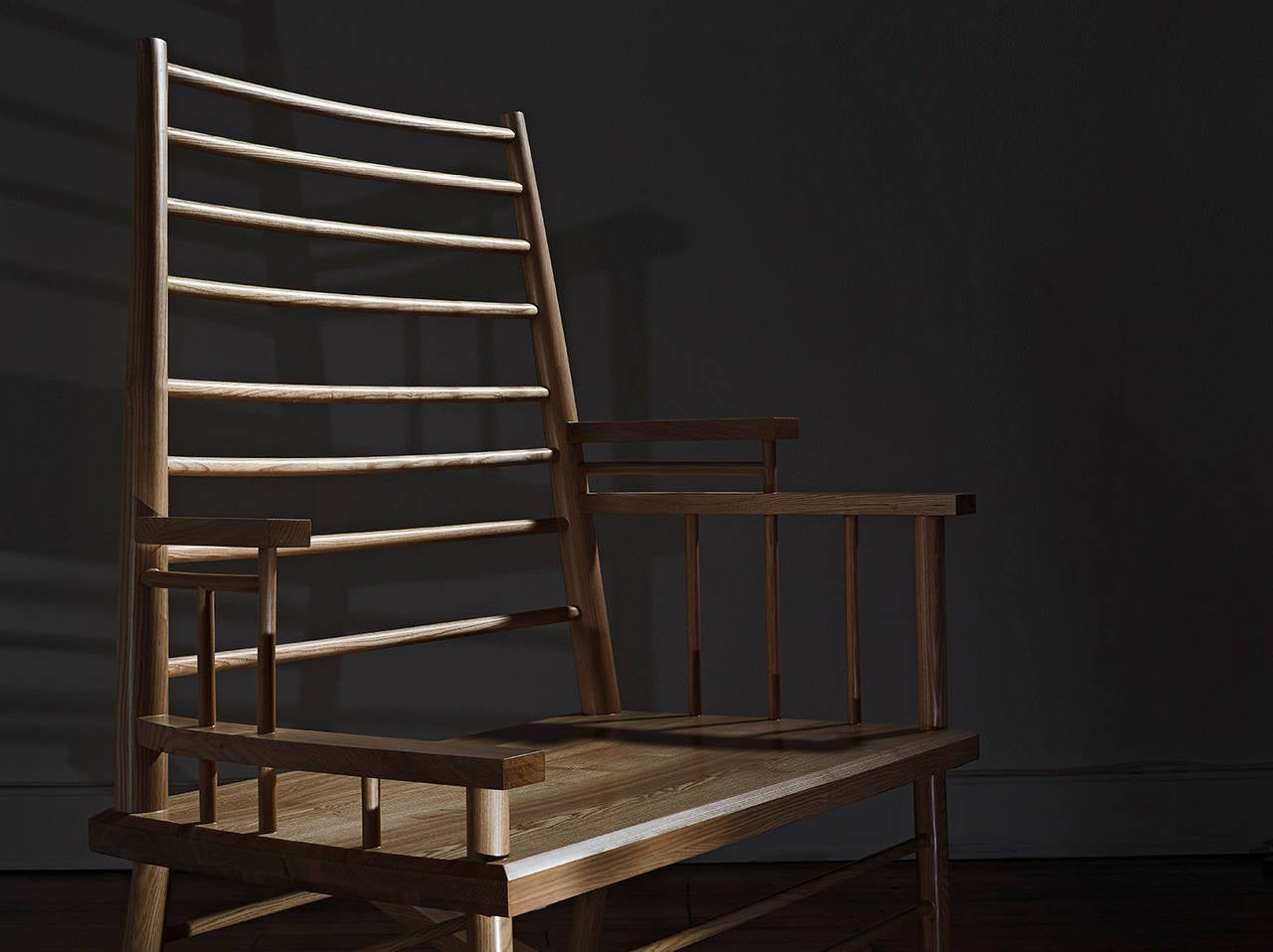 Australian Broached East Chinese Man's File Rocking Chair For Sale
