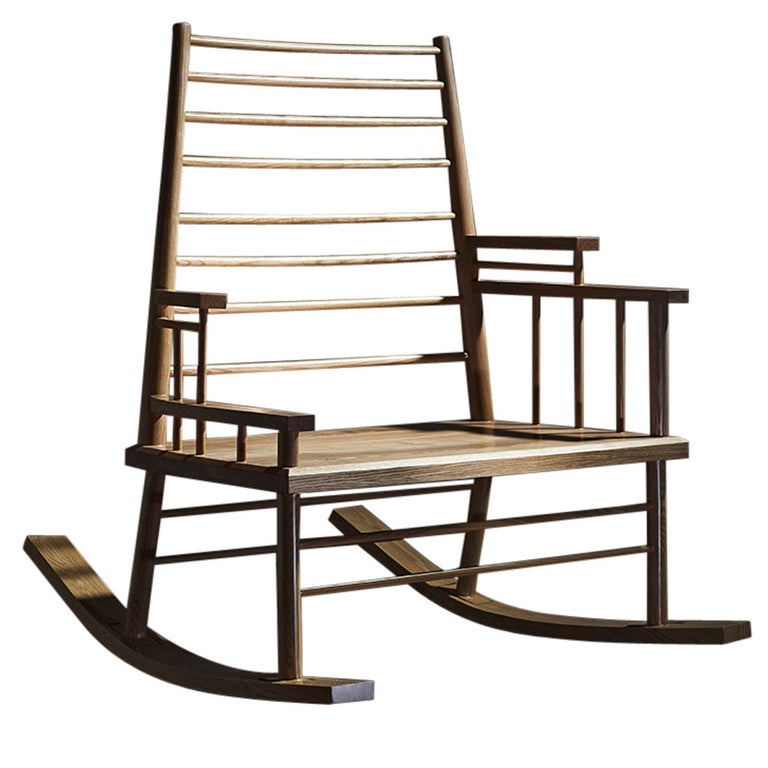 Broached East Chinese Man's File Rocking Chair For Sale