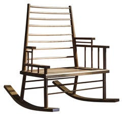 Broached East Chinaman's File Rocking Chair