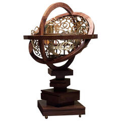 Broached East Armillary Sphere Whisky Cabinet by Naihan Li