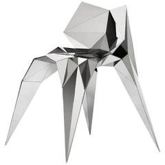 Bow Tie Chair in Mirror Finish Stainless Steel by Zhoujie Zhang