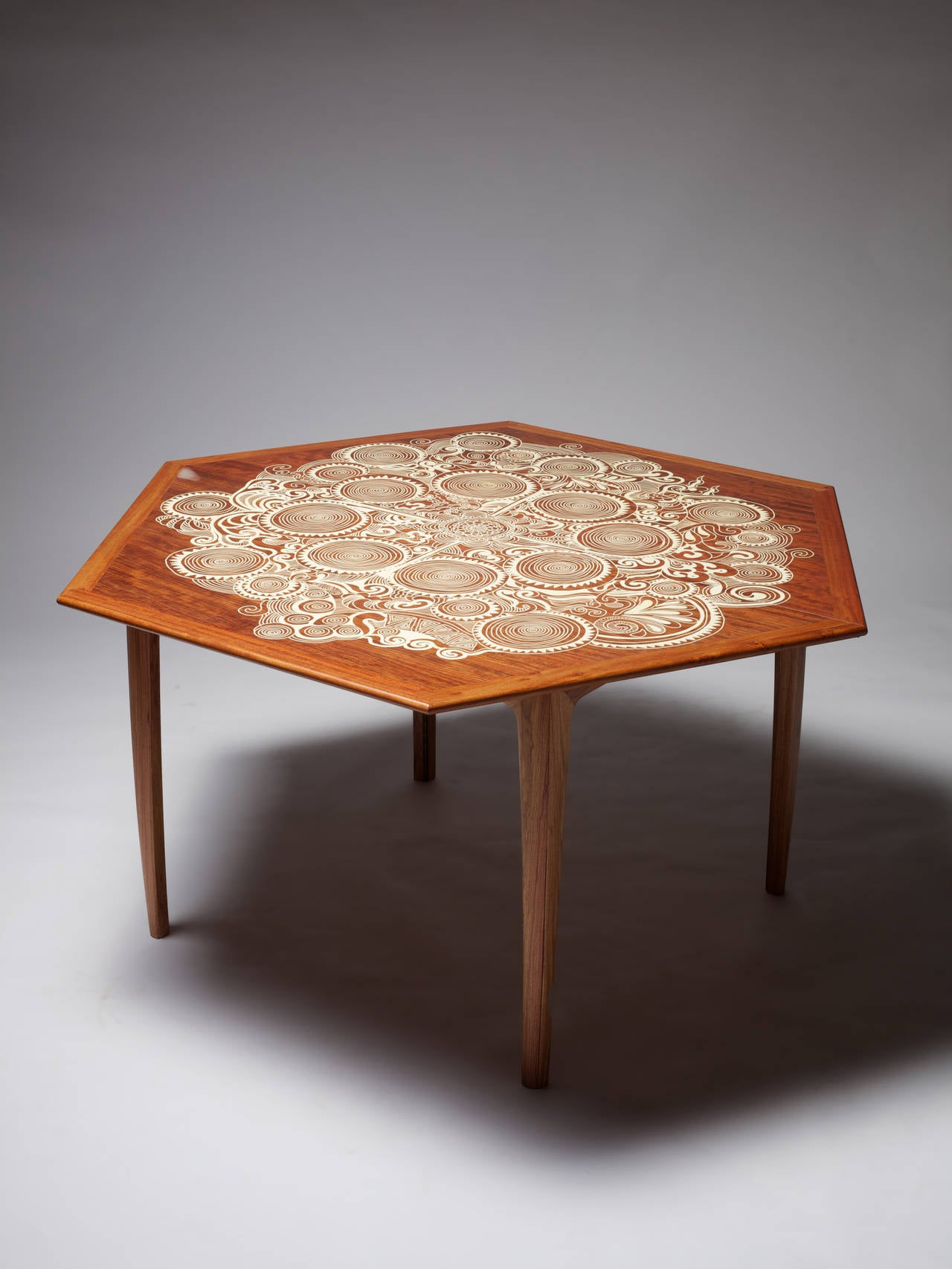 Rosewood Folding Dining Table Quot Swirl Quot By Naihan Li For