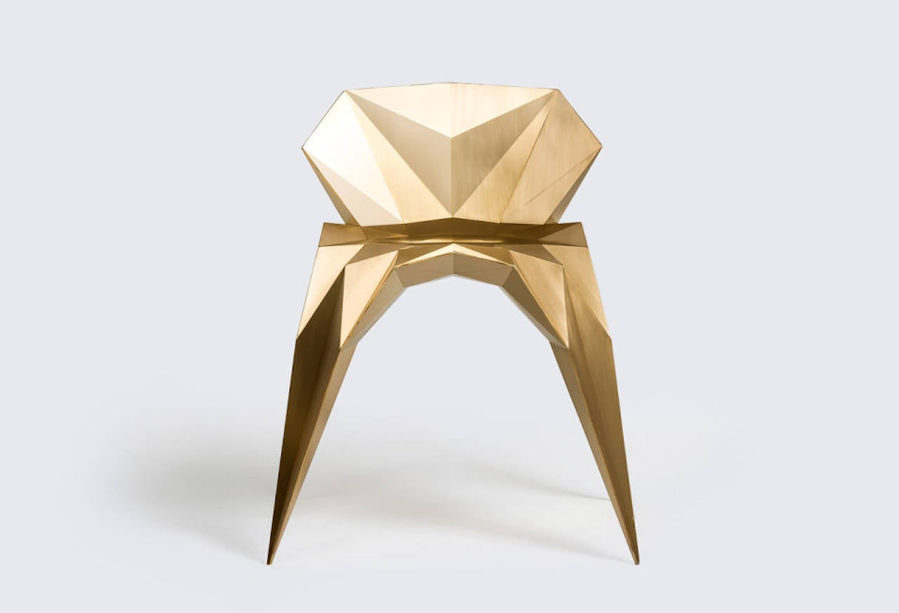 Brass Heart Chair Unique Dining Chair by Zhoujie Zhang 3