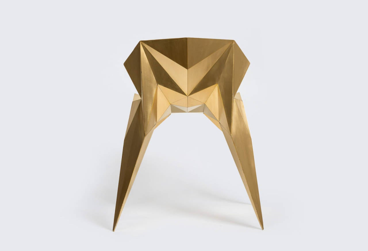 Brass Heart Chair Unique Dining Chair by Zhoujie Zhang 4