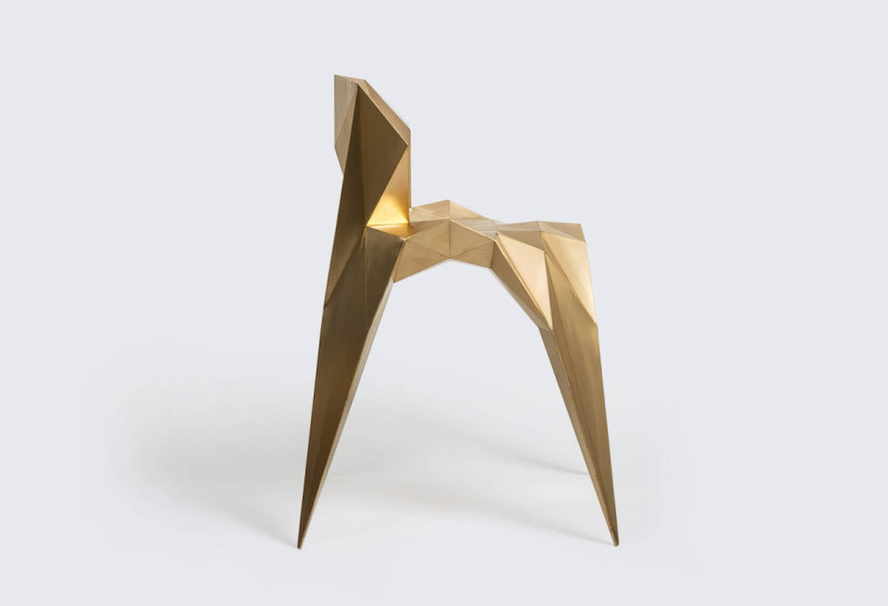 Brass Heart Chair Unique Dining Chair by Zhoujie Zhang 5