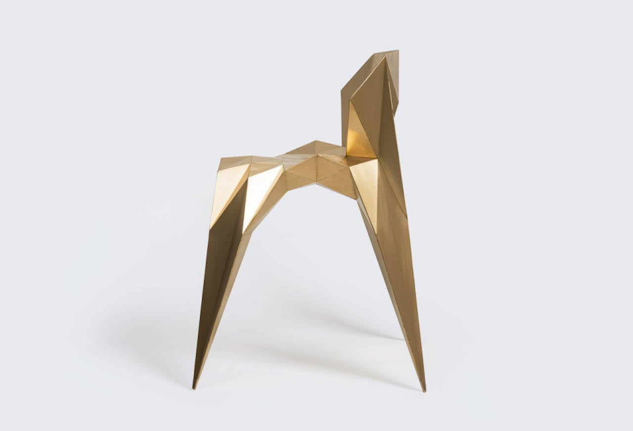 Brass Heart Chair Unique Dining Chair by Zhoujie Zhang 6