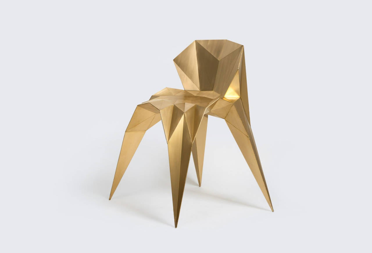 Brass Heart Chair Unique Dining Chair by Zhoujie Zhang 7