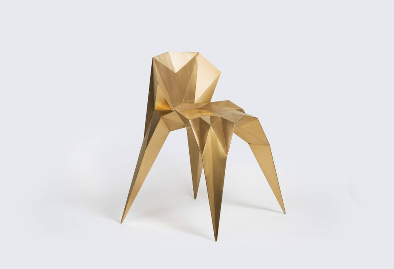 Brass Heart Chair Unique Dining Chair by Zhoujie Zhang 2