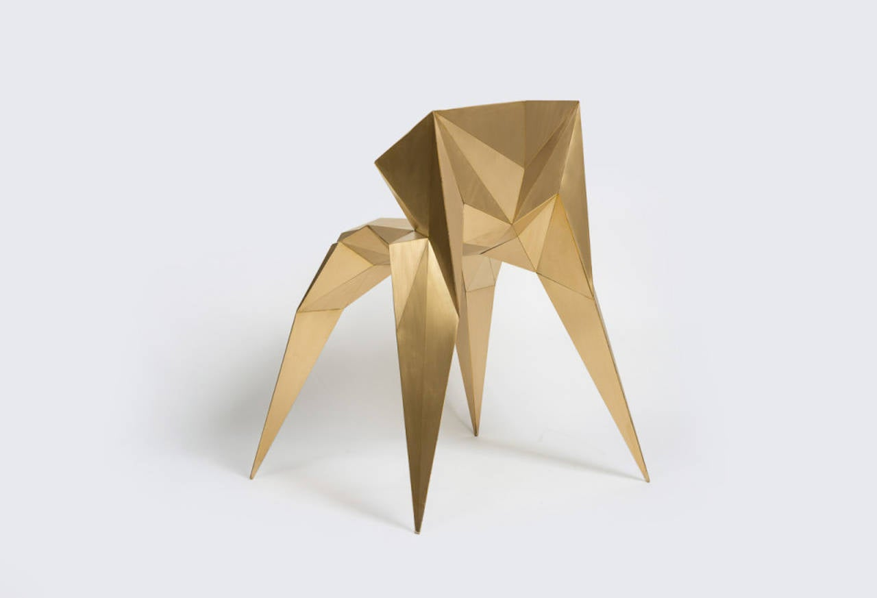 Brass Heart Chair Unique Dining Chair by Zhoujie Zhang 8