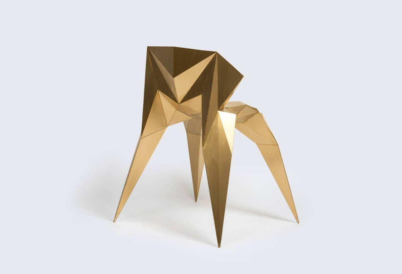 Brass Heart Chair Unique Dining Chair by Zhoujie Zhang 9