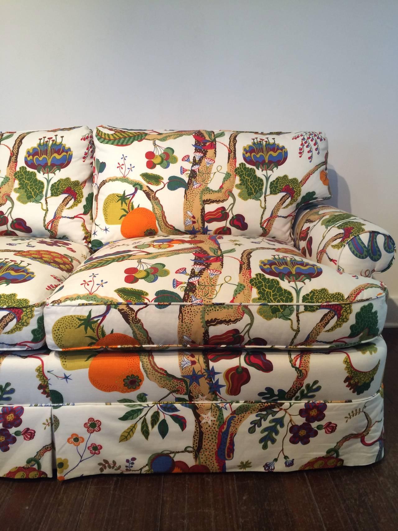 Custom Loveseat Upholstered In Josef Frank Fabric At 1stdibs