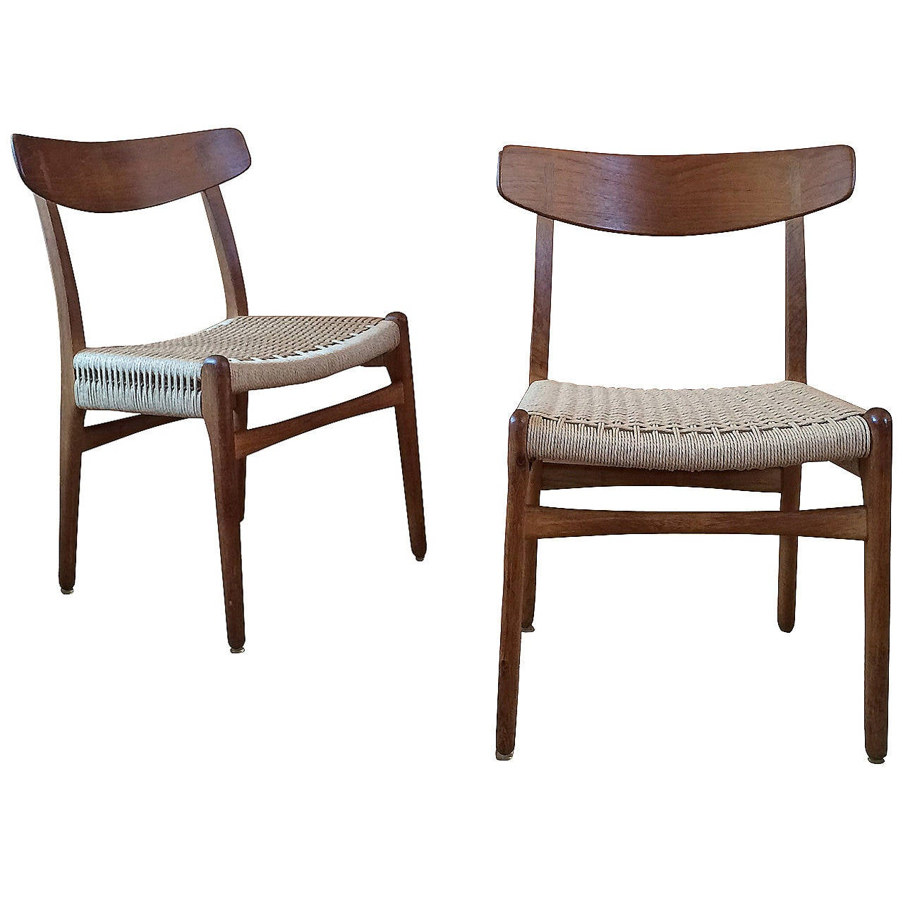 Museum Quality Hans Wegner Chairs in Oak and Paper Cord, 1950 1