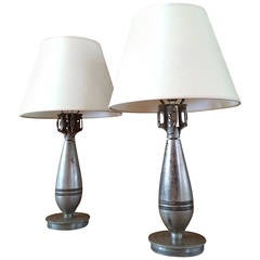 Pair of Bomb Table Lamps, 1940