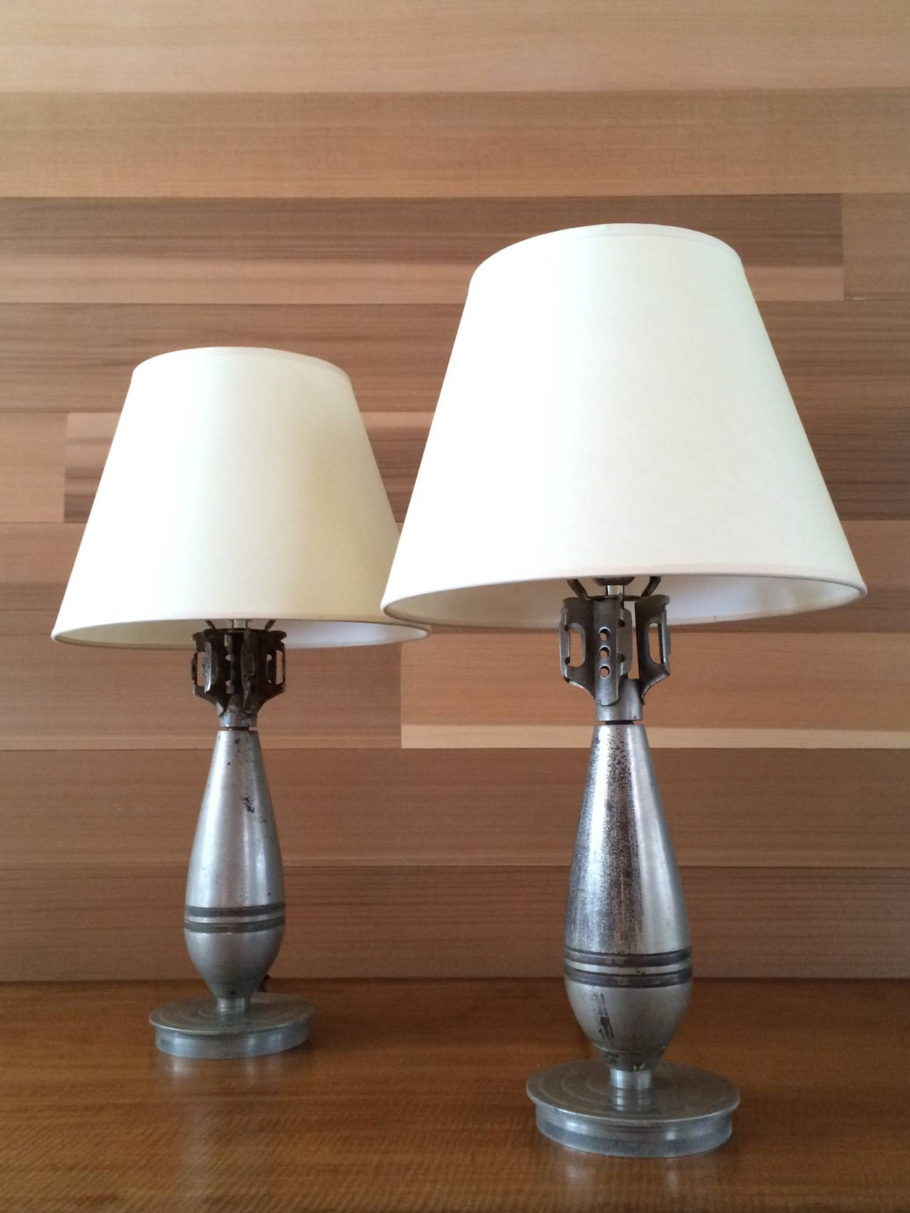 Pair of M43 Bomb Table Lamps, 1940 at 1stdibs