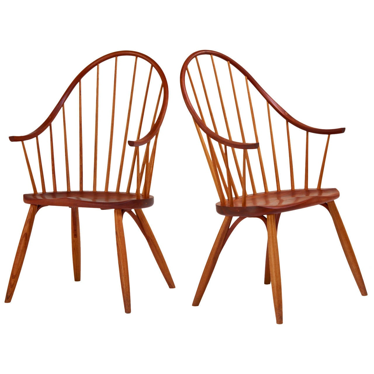 Pair Of Early Continuous Armchairs By Thomas Moser At 1stdibs