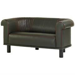 Barrel Back Leather Sofa, Switzerland