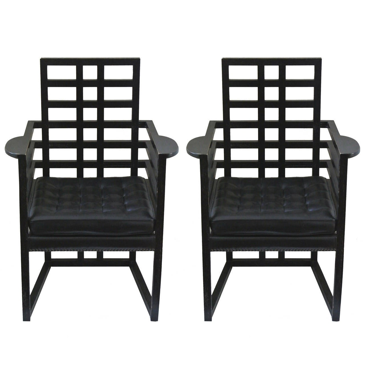 Pair Of Josef Hoffmann Quot Armloffel Quot Chairs Made By Wittmann