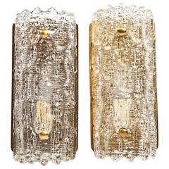 Pair of Carl Fagerlund for Orrefors Sconces, Sweden circa 1950